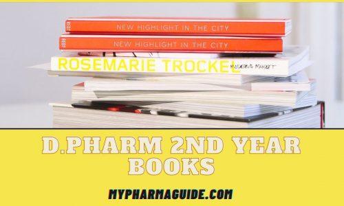 D.Pharm 2nd Year Books